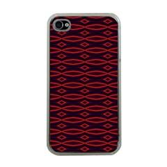 Repeated Tapestry Pattern Abstract Repetition Apple iPhone 4 Case (Clear)