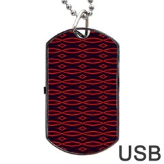 Repeated Tapestry Pattern Abstract Repetition Dog Tag USB Flash (Two Sides)