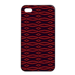 Repeated Tapestry Pattern Abstract Repetition Apple Iphone 4/4s Seamless Case (black)