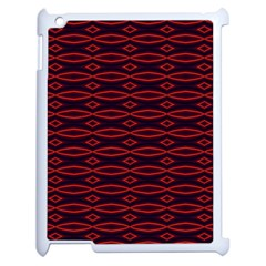 Repeated Tapestry Pattern Abstract Repetition Apple Ipad 2 Case (white)