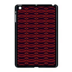 Repeated Tapestry Pattern Abstract Repetition Apple iPad Mini Case (Black)