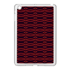 Repeated Tapestry Pattern Abstract Repetition Apple Ipad Mini Case (white)