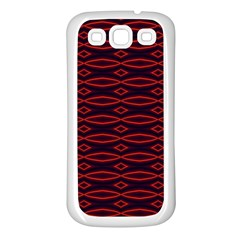 Repeated Tapestry Pattern Abstract Repetition Samsung Galaxy S3 Back Case (white)