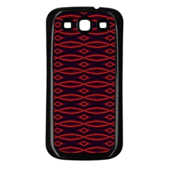 Repeated Tapestry Pattern Abstract Repetition Samsung Galaxy S3 Back Case (Black)