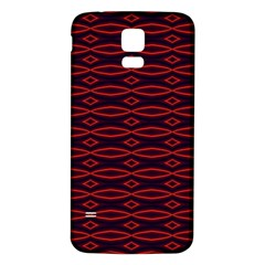 Repeated Tapestry Pattern Abstract Repetition Samsung Galaxy S5 Back Case (White)
