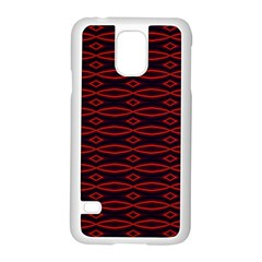 Repeated Tapestry Pattern Abstract Repetition Samsung Galaxy S5 Case (white)