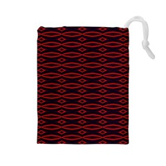 Repeated Tapestry Pattern Abstract Repetition Drawstring Pouches (Large)