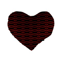 Repeated Tapestry Pattern Abstract Repetition Standard 16  Premium Flano Heart Shape Cushions