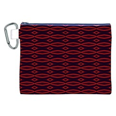 Repeated Tapestry Pattern Abstract Repetition Canvas Cosmetic Bag (xxl)