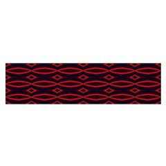 Repeated Tapestry Pattern Abstract Repetition Satin Scarf (Oblong)