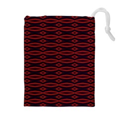 Repeated Tapestry Pattern Abstract Repetition Drawstring Pouches (Extra Large)