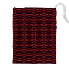 Repeated Tapestry Pattern Abstract Repetition Drawstring Pouches (XXL)