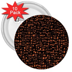 Brown Box Background Pattern 3  Buttons (10 pack)