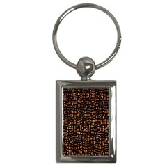 Brown Box Background Pattern Key Chains (rectangle)