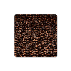 Brown Box Background Pattern Square Magnet
