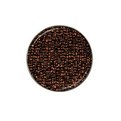 Brown Box Background Pattern Hat Clip Ball Marker (10 pack)