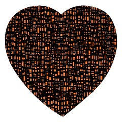 Brown Box Background Pattern Jigsaw Puzzle (Heart)