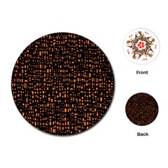 Brown Box Background Pattern Playing Cards (Round)