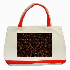 Brown Box Background Pattern Classic Tote Bag (Red)