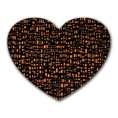 Brown Box Background Pattern Heart Mousepads