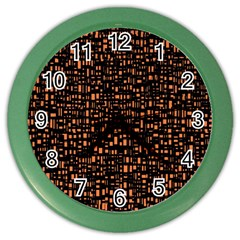 Brown Box Background Pattern Color Wall Clocks
