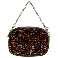 Brown Box Background Pattern Chain Purses (One Side)