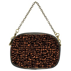 Brown Box Background Pattern Chain Purses (Two Sides)