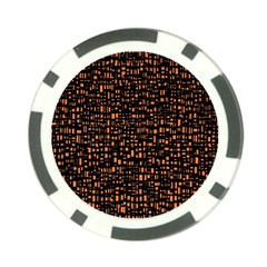 Brown Box Background Pattern Poker Chip Card Guard (10 Pack)