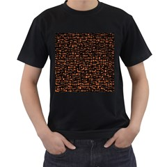 Brown Box Background Pattern Men s T-Shirt (Black)