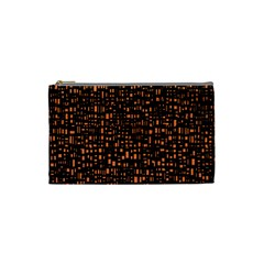 Brown Box Background Pattern Cosmetic Bag (small)