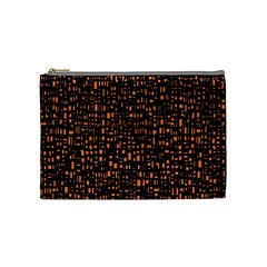 Brown Box Background Pattern Cosmetic Bag (Medium)