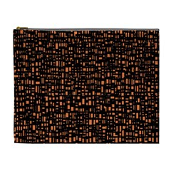 Brown Box Background Pattern Cosmetic Bag (XL)