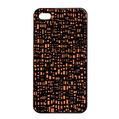 Brown Box Background Pattern Apple iPhone 4/4s Seamless Case (Black)