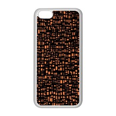 Brown Box Background Pattern Apple iPhone 5C Seamless Case (White)