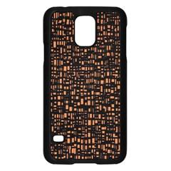 Brown Box Background Pattern Samsung Galaxy S5 Case (Black)
