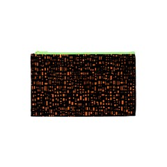 Brown Box Background Pattern Cosmetic Bag (xs)