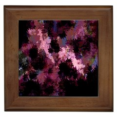 Grunge Purple Abstract Texture Framed Tiles