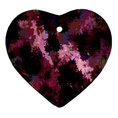 Grunge Purple Abstract Texture Ornament (Heart)