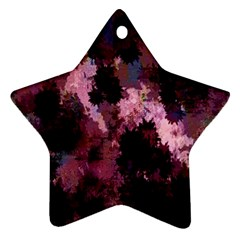 Grunge Purple Abstract Texture Ornament (Star)