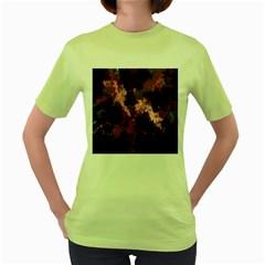 Grunge Purple Abstract Texture Women s Green T Shirt