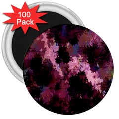 Grunge Purple Abstract Texture 3  Magnets (100 pack)