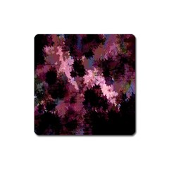 Grunge Purple Abstract Texture Square Magnet