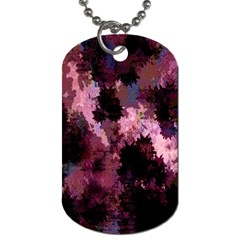 Grunge Purple Abstract Texture Dog Tag (One Side)