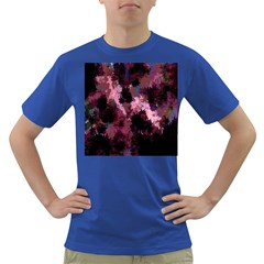 Grunge Purple Abstract Texture Dark T Shirt