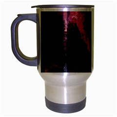 Grunge Purple Abstract Texture Travel Mug (silver Gray)