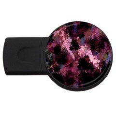 Grunge Purple Abstract Texture Usb Flash Drive Round (4 Gb)
