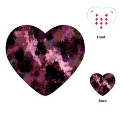 Grunge Purple Abstract Texture Playing Cards (heart)