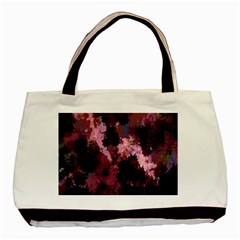 Grunge Purple Abstract Texture Basic Tote Bag