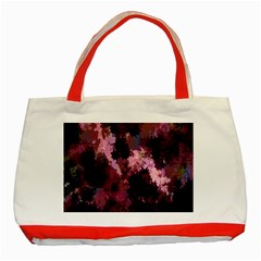 Grunge Purple Abstract Texture Classic Tote Bag (Red)