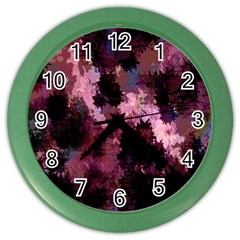 Grunge Purple Abstract Texture Color Wall Clocks